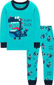 Boys Dinosaurs Pajamas Children Long Sleeve Pants Set Little Kid Holiday Pjs Sleepwear 5t
