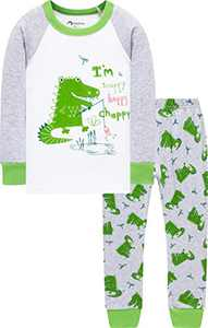 Boys Christmas Dinosaurs Pajamas Toddler Kids Cotton Pyjamas Children PJs Sleepwear Size 7