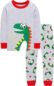 Dinosaurs Pajamas Boys Christmas Children Cotton Clothes Little Kid Holiday Pjs Sleepwear Size 7