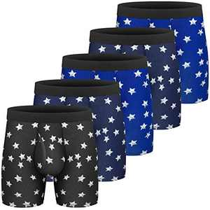 Mens Boxer Briefs Quick Dry Sport Boxer Briefs No Ride-up 6''Athletic Mesh Performance Underwear with Fly for Men Pack