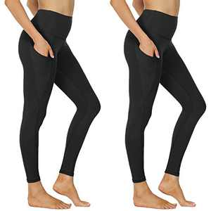 NexiEpoch High Waist Yoga Pants with Pockets for Women - Tummy Control 4 Way Stretch Leggings Workout, Running