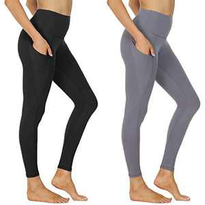 NexiEpoch Yoga Pants for Women - High Waisted Tummy Control Stretch Leggings with Side Pockets for Workout, Running
