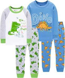 Boys Dinosaurs Pajamas Christmas Kids School Clothes Children Cotton Pjs Pants Gift Set Sleepwear 7t