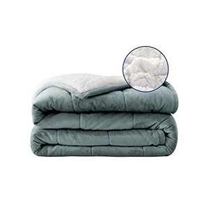 Sherpa Fleece Throw Blanket Twin Size Grey Thick Soft Cozy Luxury Microfiber Plush Blanket for Bed Couch Microfiber Blanket 48 x 72 Inch(Grey/White, 48''x72'')