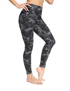 IOJBKI High Waisted Leggings for Women Yoga Pants Workout Athletic Running Leggings(CL210-Grey Camouflage-XL)