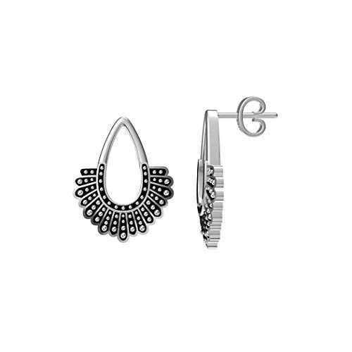SIMONLY RBG Dissent Collar Earrings 925 Sterling Silver Stud Earrings RBG Earrings for Women Fan of Ruth Bader Ginsburg