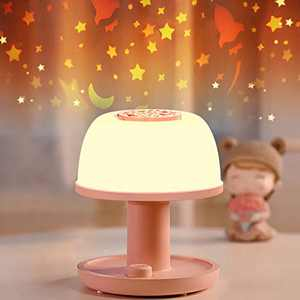 Toddler Night Light Lamp, LICKLIP Dimmable LED Bedside Lamp with Star Projector, Kids Night Lights with Timer Design & Color Changing, Portable Rechargeable Lamp, Cute Gifts for Bedroom, Birthdays