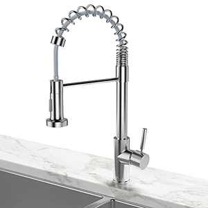 OTOL Kitchen Faucet with 3 Modes High Arc Pull Down Sprayer, Solid Brass Single Handle Kitchen Sink Faucet with Fingerprints Resistant, Lead-Free Brushed Nickel Kitchen Faucet for 1&3 Holes Sink