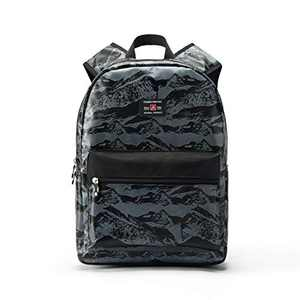 """FSY 17"""" Backpack Classic High School Student Casual Daypack Everyday Use with USB Charging Port for Girls & Boy"""