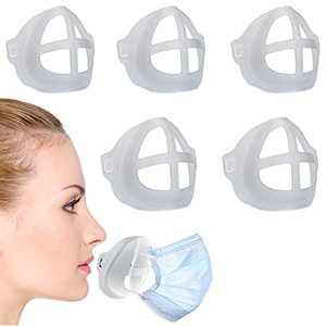 3D Face Mask Bracket (5Pcs) - Protect Lipstick Lips - Internal Support Holder Nose Frame insert- Create More Breathing Space - Washable, Reusable