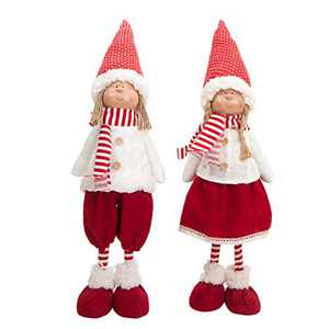 N/V Holiday Decorations Handmade Gnomes Decoration Valentine's Gifts Gnome Boy and Girl Figurines Home Decor Holiday Dolls Birthday Presents (2 Pack)