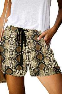 ONLYSHE Women Loose Casual Summer Short Pants Daily Life Work Home Shorts with Pockets