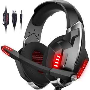 ONIKUMA Gaming Headset for PS5, PS4, Xbox One(Adapter Not Included), PC, Nintendo, Laptop with Noise Canceling Mic, Surround Sound and LED Light