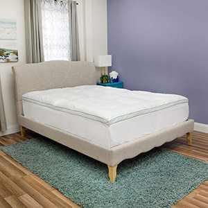BioPEDIC Clean 2.5-Inch Fiberfill Mattress Topper Odor and Anti-Stain Ultra-Fresh Treated Fabric, Full, White