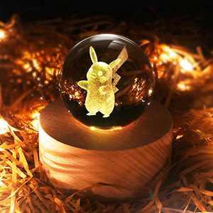 3D Crystal Ball LED Night Light,16 Colors Changing Anime Light Table Lamp for Room Decor,Birthday Christmas Gifts for Kids Boys Girls