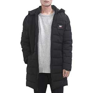 Men's Thickened Down Jacket Winter Warm Active Down Cotton Coat Lightweight Long Hoodie Puffer Padded Snowjacket Windproof Parkas Coat Padded Puffy Jacket Extremely Cold