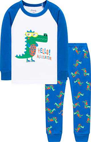 Dinosaurs Pajamas Boys Girls Christmas Sleepwear Children Long Sleeve Pjs Size 7