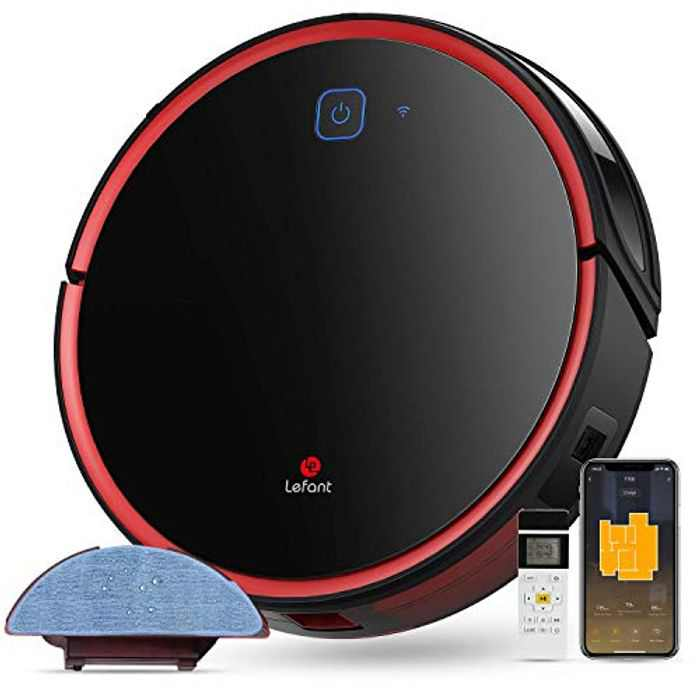 Lefant Robot Vacuum Cleaner with Mop, Robotic Vacuums, 2000Pa Strong Suction, Works With WIFI/Alexa/App, Quiet, Self-Charging Vacuum Robot, Ideal for Hard Floor, Pet Hair, and Carpets (M501A)