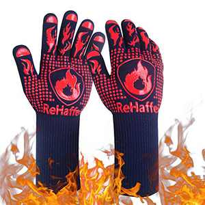 Premium BBQ Gloves,1472° F Extreme Heat Resistant Grill Gloves Cut Resistance, Non-Slip Food Grade Silicone Cooking Gloves for Barbecue,Smoker,Oven,Cooking and Baking