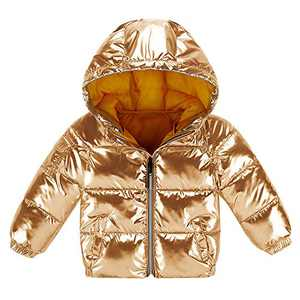 Makkrom Baby Boys Girls Toddlers Hooded Puffer Coat Light Down Jacket Outdoor Winter Coats for Kids Infants