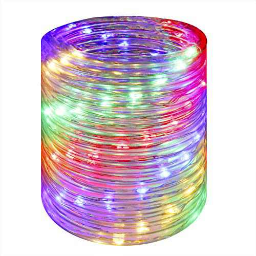 Wstan LED Rope Lights,Multicolor Fairy Lighting,12V Indoor Outdoors Plug in,16ft Connectable and Flexible Colorful Tube Lighting for Bedroom,Deck,Patio,Camping,Landscape Lighting