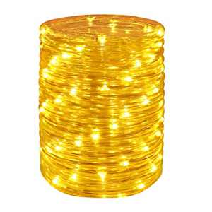 Wstan LED Rope Lights ,Amber Strip Light,12V Indoor Outdoors Plug in,16ft Connectable and Flexible Yellow Tube Lighting for Bedroom,Deck,Patio,Camping,Landscape and Wedding Lighting