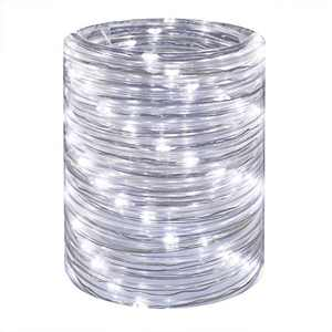LED Rope Lights 16ft Daylight Waterproof Mini Twinkle Tube Fairy Light, Low Voltage Indoor Outdoor Connectable and Flexible, for Bedroom Home Garden Deck Patio Camping Landscape