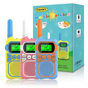 Kids Walkie Talkies with 22 Channels & 3 Mile Range, ITSHINY Walkie Talkies for Kids [3 Pack] with Backlit LCD Flashlight Birthday Toys Gifts