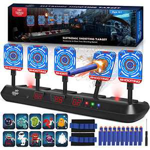 Lehoo Castle Nerf Guns Targets, Digital Target for Nerf Guns,5 Targets Nerf Guns Target Practice, Target Shooting Games for Kids