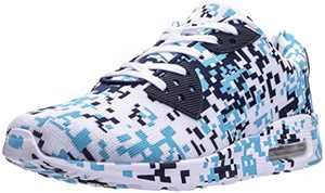 BRONAX Men's Camo Tennis Shoes, Size 12 Lightweight Breathable Comfortable Road Running Sneakers Cushion Lace Up Male Camouflage Blue 46
