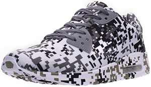 BRONAX Men's Camo Tennis Shoes, Size 9.5 Lightweight Breathable Comfortable Running Sneakers Gym Workout Male Camouflage White 43