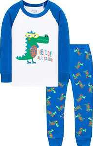 Dinosaurs Pajamas Boys Girls Christmas Sleepwear Children Long Sleeve Pjs Size 5
