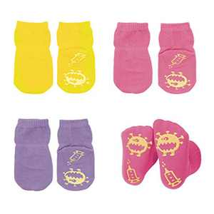 Baby Socks Non Slip Newborn Socks with Grips Infant Toddler Cotton Socks for Boys Girls 3 Pack…