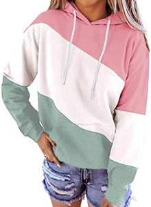 Aleumdr Tie Dye Hoodie for Women Plus Size Fall Winter Lightweight Long Sleeve Casual Loose Pullover Sweatshirt with Pockets Pink Medium 8 10