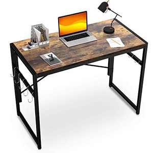 Accenter Folding Desk 40inch Computer Desk No Assembly Required Foldable desks for Small Spaces