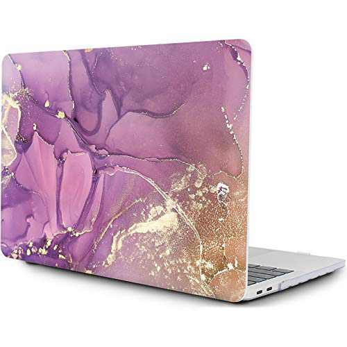 OneGET MacBook Pro 13 Inch Case with Touch Bar Laptop Case 2020 A2338 M1 A2251 A2289 MacBook Pro Cover for MacBook Pro 13 Inches Hard Shell Marble(RS-906, 2020 A2289/A2251 Newest Pro 13'')