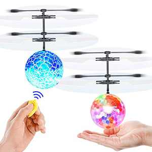 Yooumoga Flying Ball RC Toys for Kids Drone Helicopter Rechargeable Light Up Infrared Induction Games Indoor Outdoor Holiday Birthday Gifts Boys Girls Teens 2 PCS