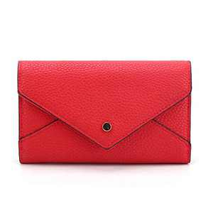 Long Wallet for Women RFID Blocking Clutch Purse , Multi Card Cases Envelope Wristlet with 8 Card Holder and Coin Pouch,Red