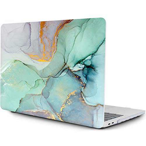 OneGET MacBook Pro 13 Inch Case with Touch Bar Laptop Case 2020 A2338 M1 A2251 A2289 MacBook Pro Cover for MacBook Pro 13 Inches Hard Shell Marble(RS-913, 2020 A2289/A2251 Newest Pro 13'')