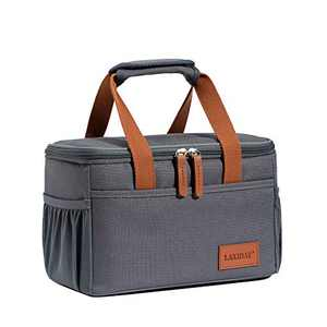 LAKIDAY Insulated Lunch Bag for Women/Kids Cooler Bag Lunch Tote Box Container Leakproof for WorkOutdoor(Dark Gray-1)