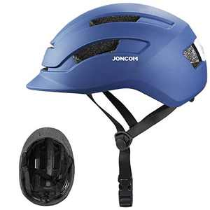 Joncom Adult Bike Helmet, Bicycle Cycling Helmets for Adult with Rechargeable Safety Light Certified Adjustable Size for Men/Women Skateboard Mountain Biking Climbing (Blue, Large)