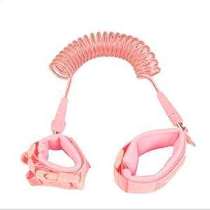 Anti Lost Wrist Link, Toddler Safety Leash with Key Lock, Reflective Child Walking Harness Rope Leash for Babies & Kids (Pink)
