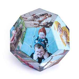 Photo Frame Rubik's Cube, Custom Picture Rubiks Cube Multi Picture Photo Block- Personalized Photo Puzzle 3D Rotatable Rubik's Cube Gift for Love Friends Wedding Home Office Decoration (pentagon)