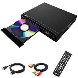 Compact DVD Player for TV, Multi-Region DVD Player, MP3, DVD CD Players for Home, with HDMI/AV/USB/MIC, (not Blu-ray DVD Player)