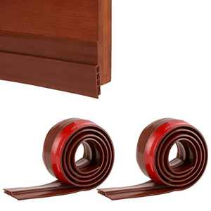 "ACEBEST Door Draft Stopper Under Door Seal Draft Blocker Strong Soundproof Door Sweep Weather Stripping for Doors, 2"" W x 39"" L, Draft Guard for Door Soundproofing,2pcs(Brown)"