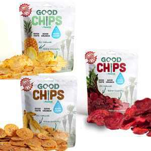 Baked Fruit and Veggie Crispy delight Chips by Good Chips | 1 Ounce Bag - Pack of 6| Baked, Oil-Free | 3 Flavors Single Serve Variety | Vegan Friendly, No Sugar Added, All Natural |