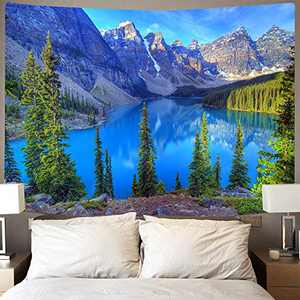 """Nature Tapestry Wall Hanging Mountain Tree Tapestries Large Forest Tapestry for Bedroom Living Room Dorm Decor (70.9"""" x90.6"""")"""