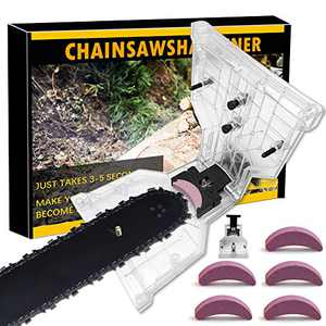 LiL DiHo Chainsaw Sharpener, The Second Generation New Portable Chain Saw Blade Teeth Sharpener Work Sharp Fast-SharpeningStone Grinder Tools Suitable (Transparent)