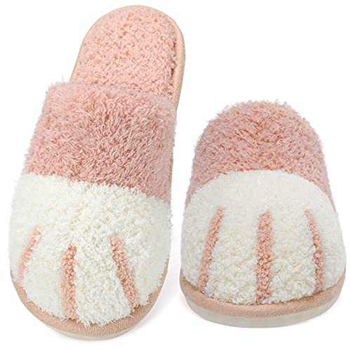 SINNO Cute Animal Slippers for Women Memory Foam Winter Warm House Slippers Soft Cozy Booties Slip-on House Shoes for Indoor Outdoor Bedroom Shoes Gifts for Women Girls Mom Ladies