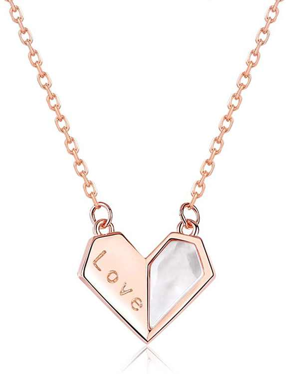 BDD CO. Women Love Necklaces, Women's 925 Sterling Silver Necklaces,40-45CM